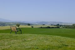 Chair on TUSCANY Royalty Free Stock Photography