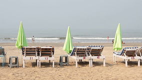 Chair with Umbrella. Near the Beach stock footage
