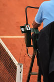 Chair Umpire at Roland Garros 2011. A chair umpire at Roland Garros 2011 Stock Image