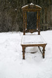 Chair Under Snow Royalty Free Stock Image