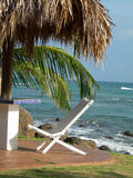 Chair under thatched roof hut nicaragua Stock Photos