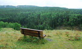 Chair with valley view Stock Photography