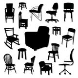 Chair Vectors Sets Royalty Free Stock Images