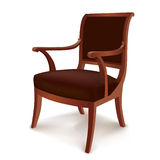 Chair. Vintage furniture in Retro Style Isolated Royalty Free Stock Images