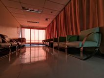A chair in the waiting room of a hospital royalty free stock photography