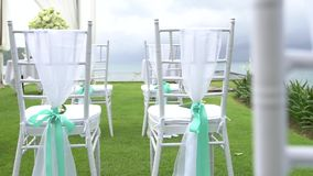 Chair in Wedding setting stock footage