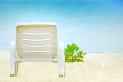 A Chair on the white beach. stock images