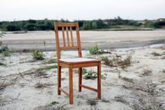 Chair in wild filed Stock Image