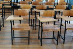 Free Chair Wood In Classroom High School Royalty Free Stock Photography - 116774997