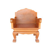 Chair Wood, Isolated with clipping path. Royalty Free Stock Photography