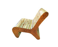Chair wood pastel hand made design on isolated, defocus concept Stock Photos