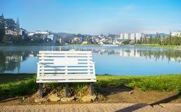 Chair at Xuan Huong lake Stock Photography