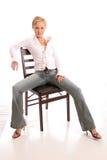 Chair4 biondo Fotografie Stock Libere da Diritti