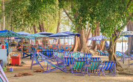 Chairdesk bij bearch, Thailand Royalty-vrije Stock Foto's