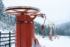 Chairlift ουρανού Στοκ εικόνα με δικαίωμα ελεύθερης χρήσης