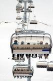 chairlift περιοχής να κάνει σκι στοκ φωτογραφία