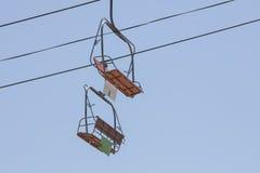 Chairlift σε ένα λούνα παρκ Στοκ εικόνα με δικαίωμα ελεύθερης χρήσης