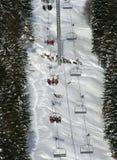 chairlift рейдируя туристов Стоковое Изображение RF