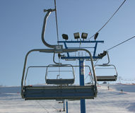 Chairlift. Winter chairlift stock photos