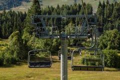 chairlift lizenzfreie stockfotos