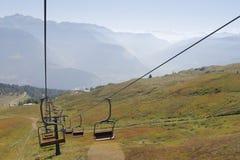 chairlift lizenzfreie stockfotografie