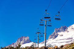Chairlift Above Royalty Free Stock Photos