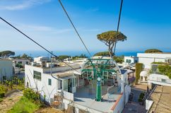 Chairlift in Anacapri at Capri Island, Italy Stock Image