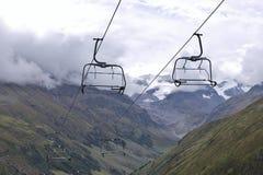Chairlift bez siedzeń w Tyrolian Alps, Austria Obrazy Royalty Free