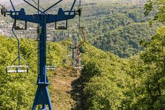 Chairlift Boppard, Niemcy fotografia royalty free