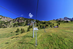 Chairlift in Dolomites Royalty Free Stock Photo