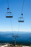 Chairlift Down Mount Hood Royalty Free Stock Images