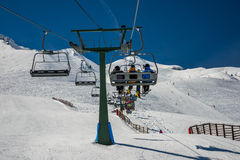 Chairlift from Formigal. Stock Photography
