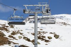 Chairlift in France Stock Photos