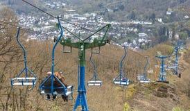 chairlift gideonseck boppard Γερμανία Στοκ φωτογραφία με δικαίωμα ελεύθερης χρήσης