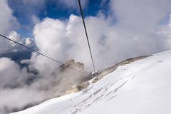 Chairlift Ice Flyer, Mount Titlis Royalty Free Stock Images
