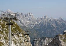 Chairlift in Julian Alps Royalty Free Stock Photos
