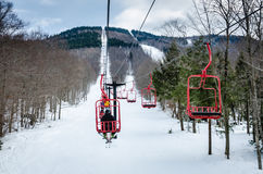Chairlift - Magic Mountain - Londonderry, VT Royalty Free Stock Photo