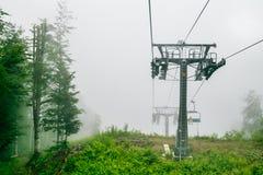 chairlift Makro des grünen Grases lizenzfreie stockbilder
