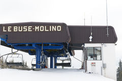 Chairlift Molino - Le Buse Stock Image