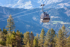 Chairlift. On a montain in the alps Stock Photography