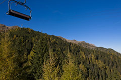 Chairlift and mountain Stock Photography
