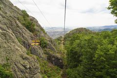 Chairlift in the mountain Royalty Free Stock Photography