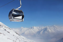 Chairlift in mountains Stock Image