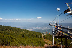 Chairlift  in mountains Royalty Free Stock Photo