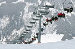 Chairlift in the mountains, Austria Royalty Free Stock Images
