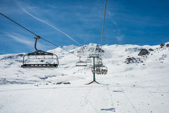 Chairlift od Formigal Obraz Stock