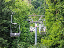 Chairlift in operation Royalty Free Stock Images