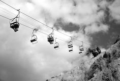Chairlift over the Beach Royalty Free Stock Photography