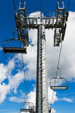Chairlift over blue sky Stock Image