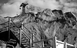 Chairlift over the Cliffs Royalty Free Stock Photos